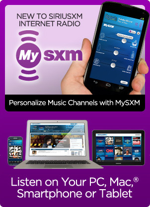 You can play SiriusXM Internet radio on your PC, compatible smartphone, or Internet radio.