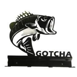 fish key holder and coat hook with text Gotcha