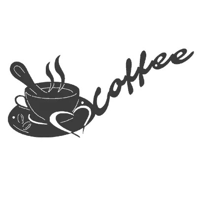 custom metal coffee sign-option for size, color, words