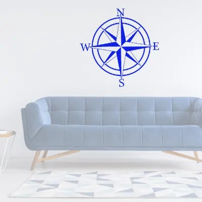 compass rose sign in room