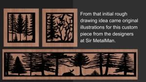 custom metal panel for hearth customer steps-multi panels