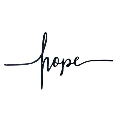 metal hope cross horizontal
