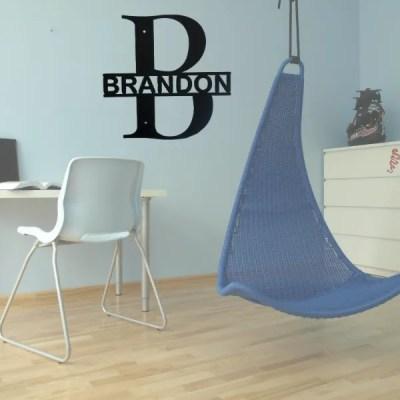 monogram split letter bold teen room