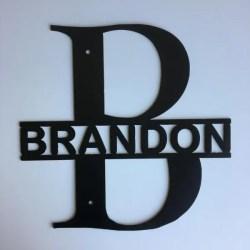 Monogram split letter bold