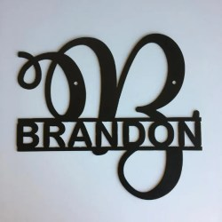 monogram split letter fancy script