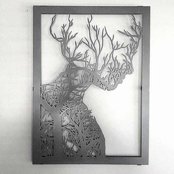 wall decor woman tree