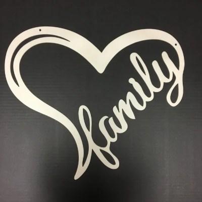 heart family white