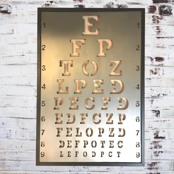 interior decor eye chart
