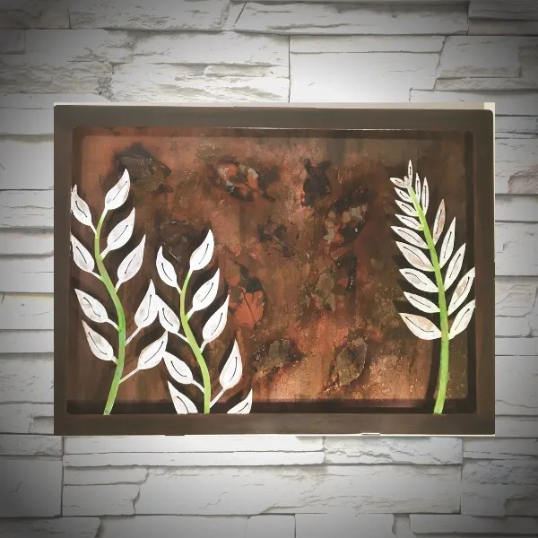 wall art leaf panel wall