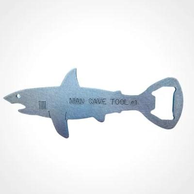 shark bottle opener steel