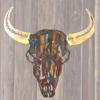 buffalo powder horns wall