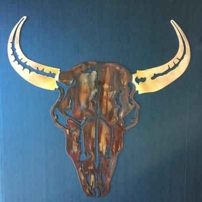 buffalo metal wall art