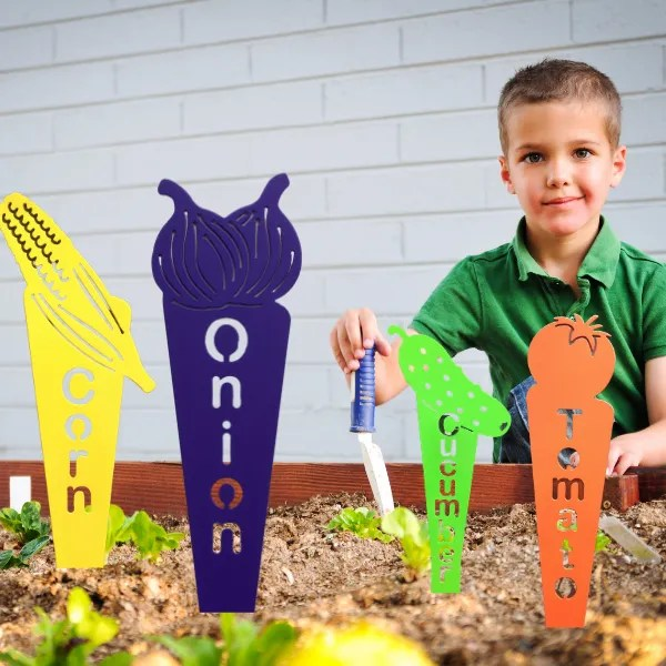 metal garden plant markers for kids