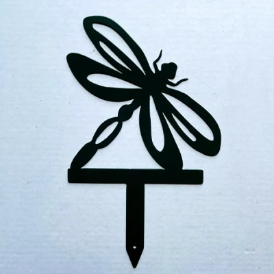dragonfly garden stake black