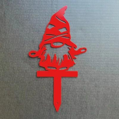 man gnome garden stake
