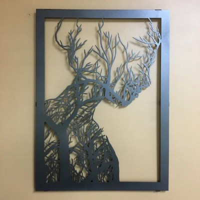 metal tree woman single black