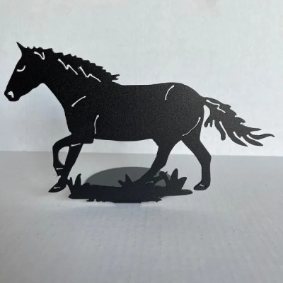candle holder horse black