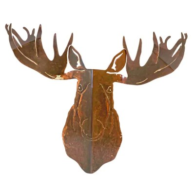 moose head patina cabin decor
