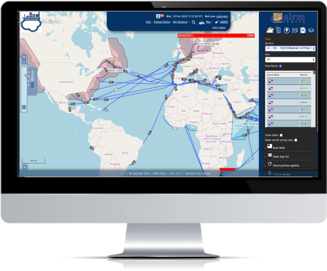 Big Data Maritime Cloud Services Tracking and Monitoring Connected Vessel