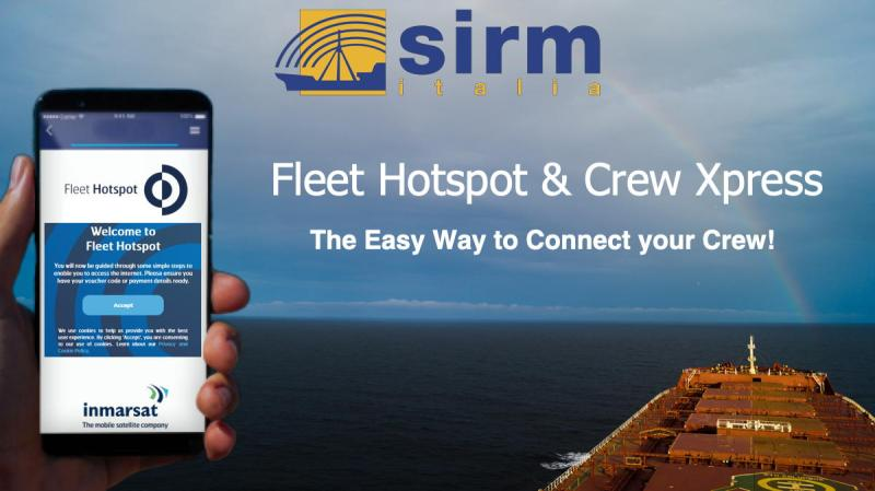Crew Xpress, with its unique Fleet Hotspot for seafarers, gives you two independent channels powered by Fleet Xpress Satellite