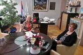 Susret gradonačelnice Svetlane Milovanović i Marije Prokop nekadašnje predsednice SO