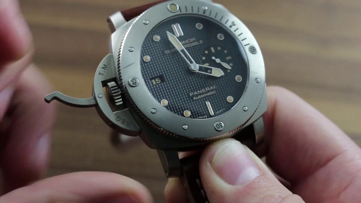 Panerai Luminor Submersible 1950 Left Handed 3 Days Automatic Titanio PAM 569