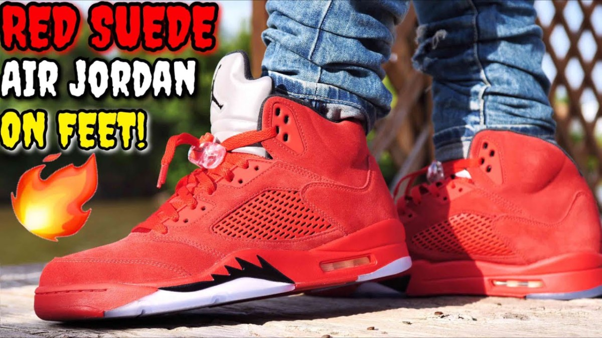 "Kommande Släpp : Air Jordan 5 ""Flight Suit"" / ""Red Suede"""