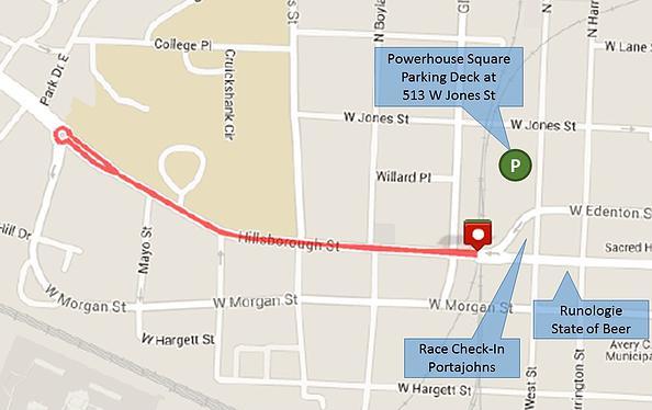 2015 Oak City Mile course