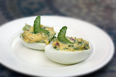 Photo from Sis Boom Blog   Deviled Eggs with Capers and Tarragon