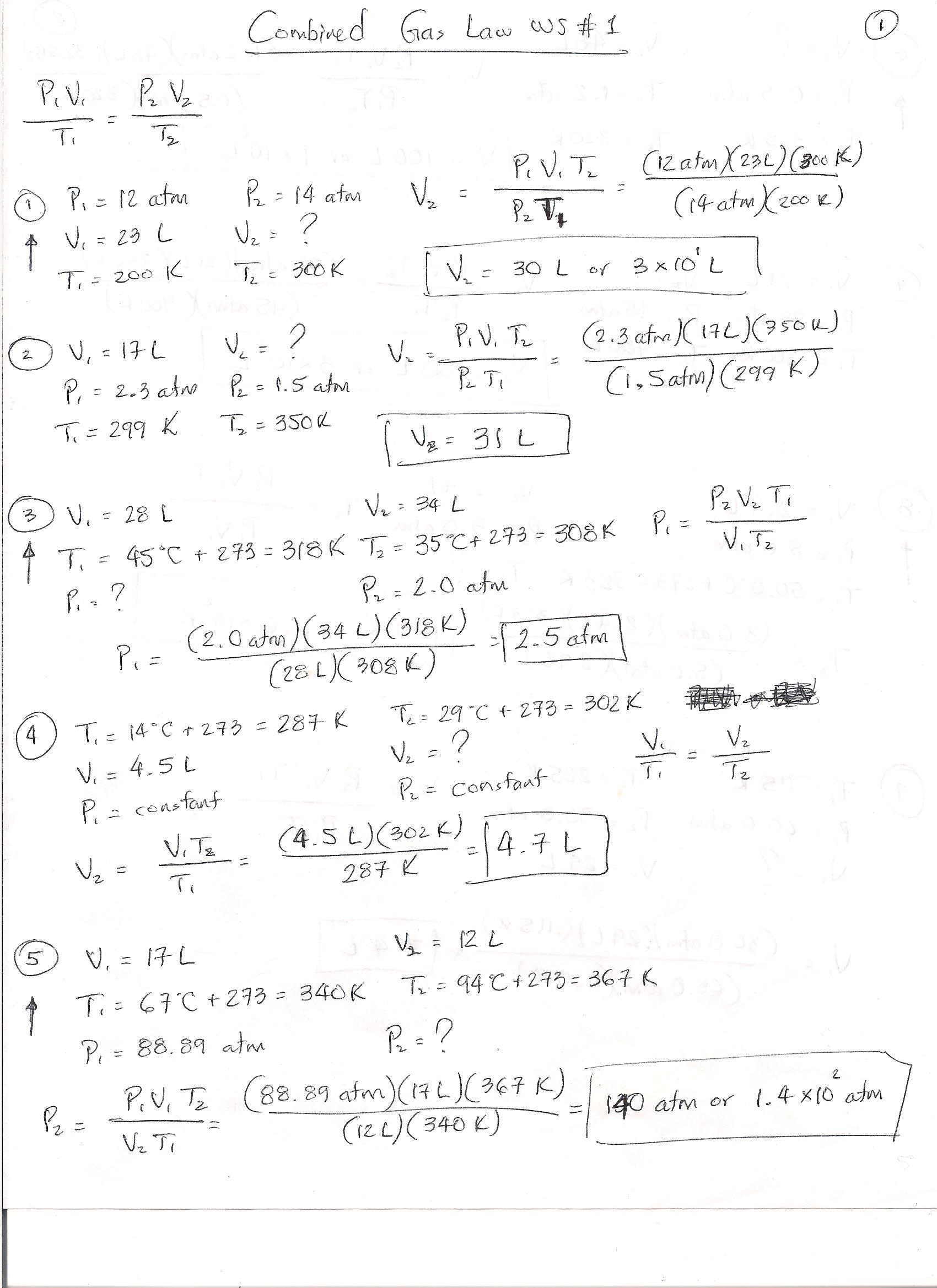 Ideal Gas Law Practice Answer Key Download On Gobookee