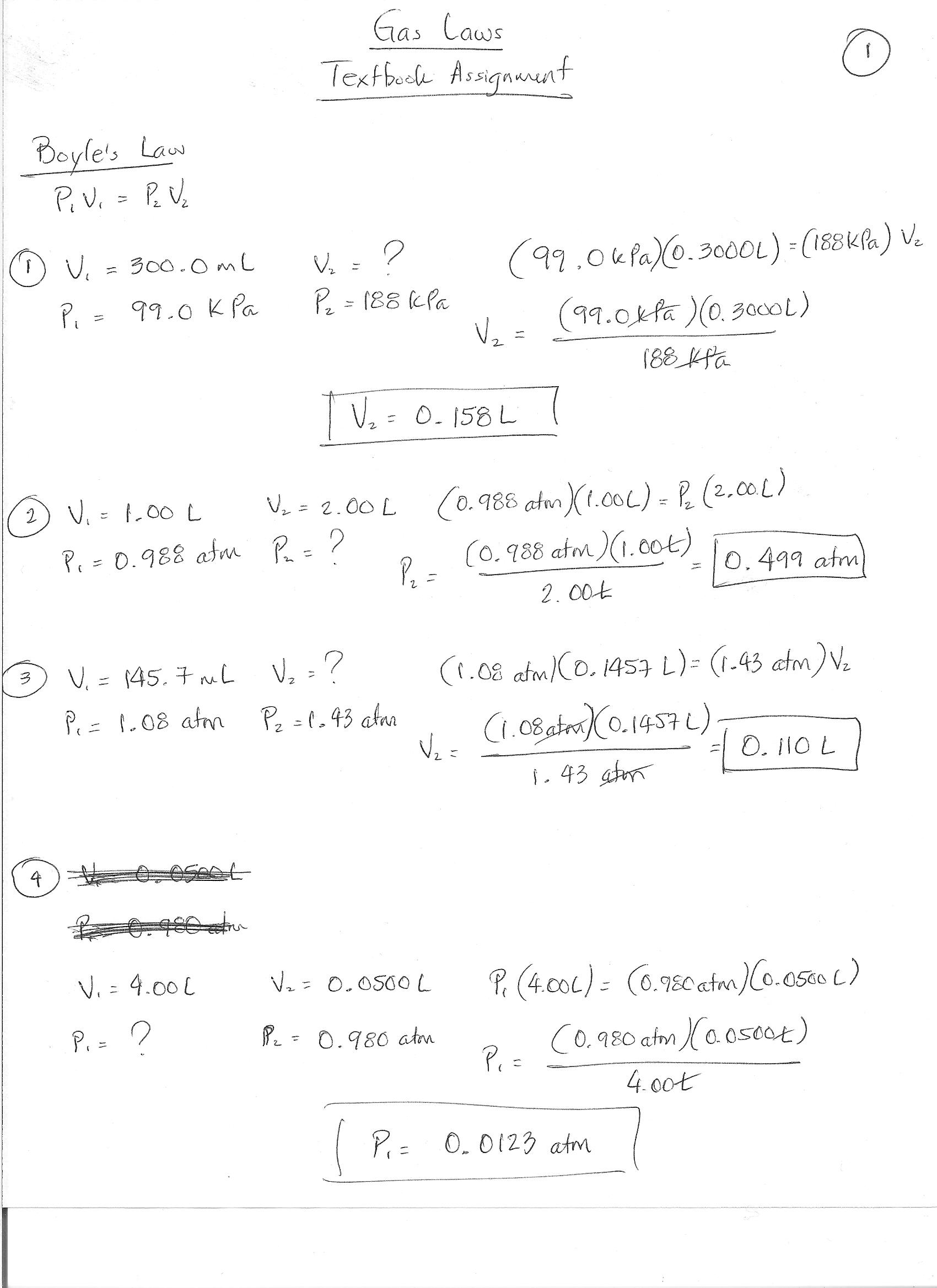 Worksheet Boyle S Law And Charles Law Key