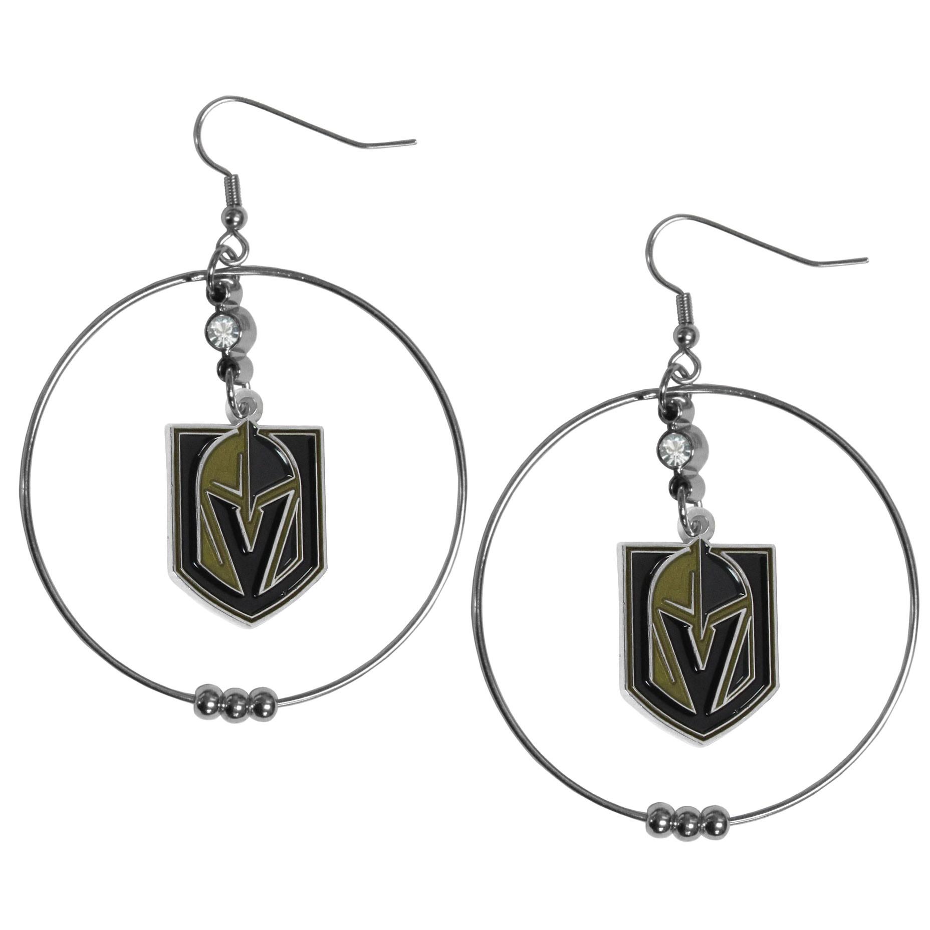 Vegas Golden Knights 2 Inch Hoop Earrings