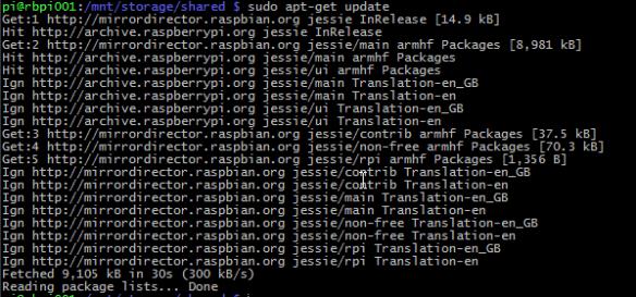 rapsberry raspbian servidor archivos samba 003 apt-get update