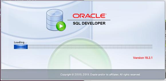 Captura de pantalla de inicio del SQL DEVELOPER