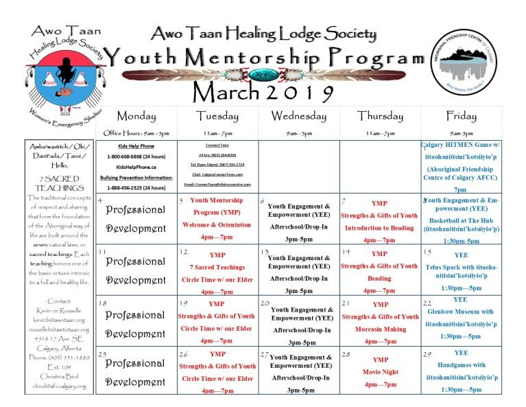 Youth Mentorship Program – March 2019