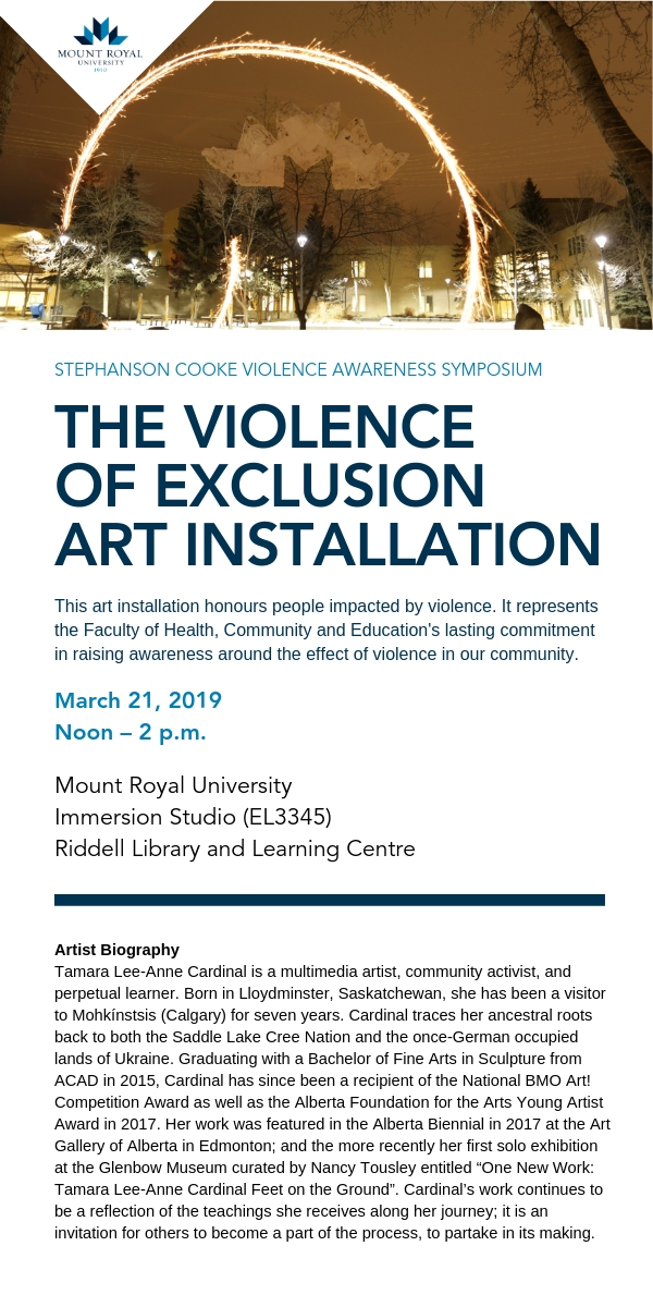 THE VIOLENCE OF EXCLUSION ART INSTALLATION