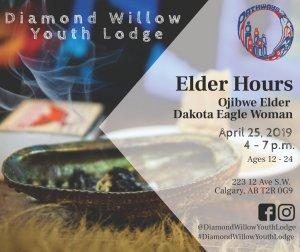 Elder's Hours with Ojibwe Elder Dakota Eagle Woman @ Diamond Willow Youth Lodge