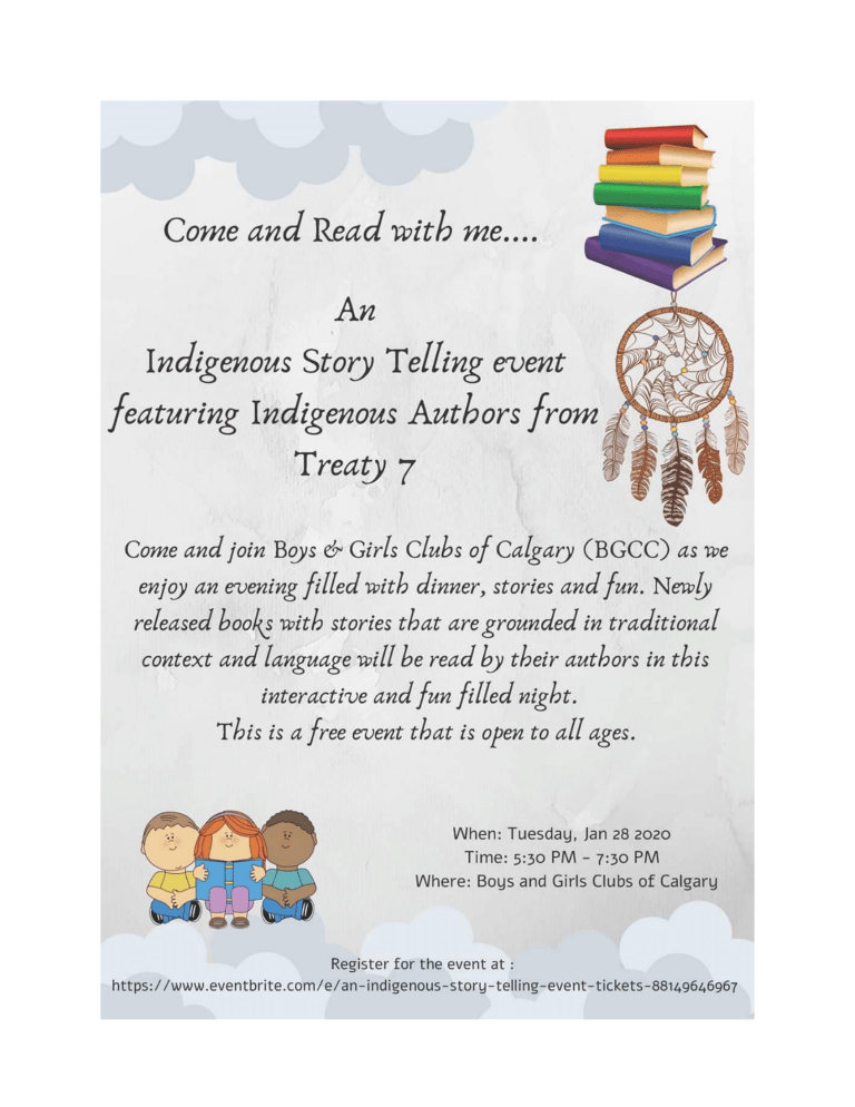 An Indigenous Storytelling event featuring Indigenous Authors from Treaty 7