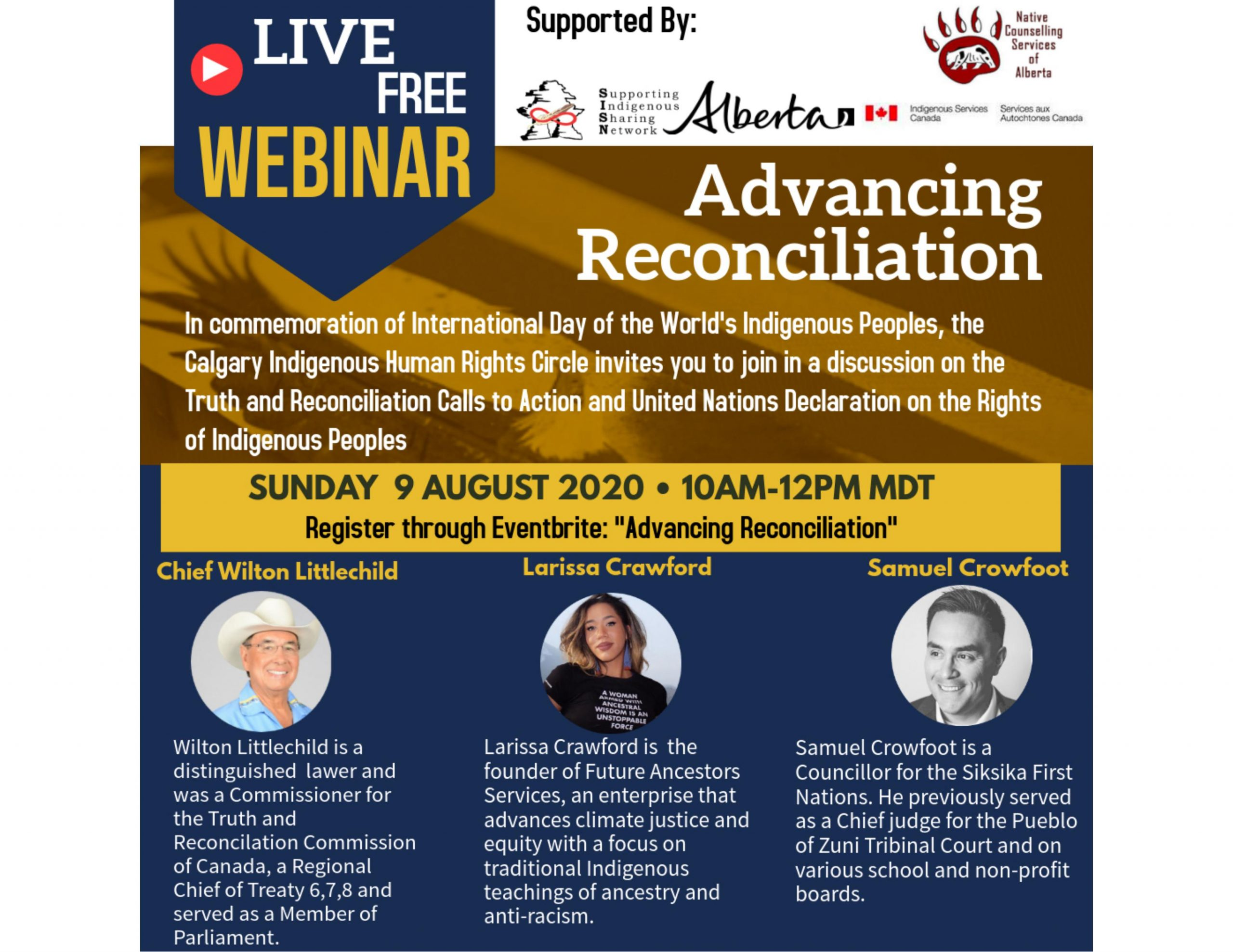 Advancing Reconciliation webinar – August 9