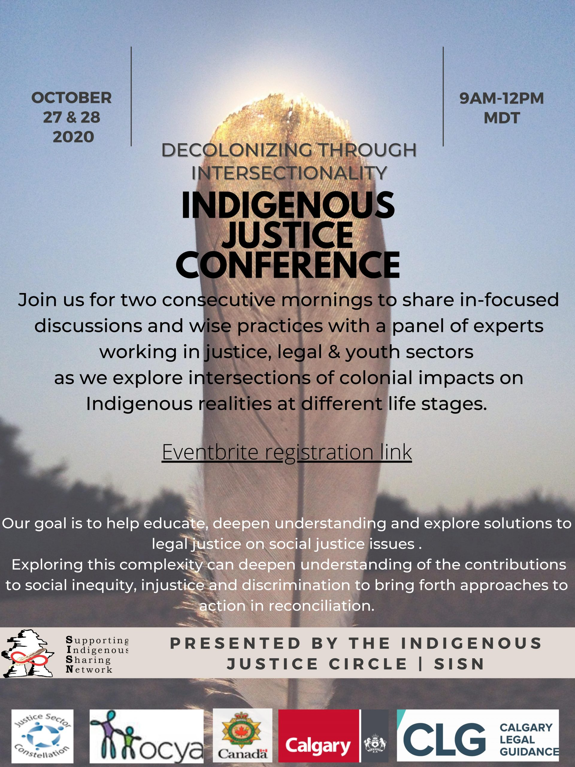 Indigenous Justice Conference | October 27-28, 2020