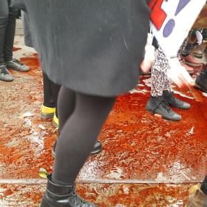 blood red floor