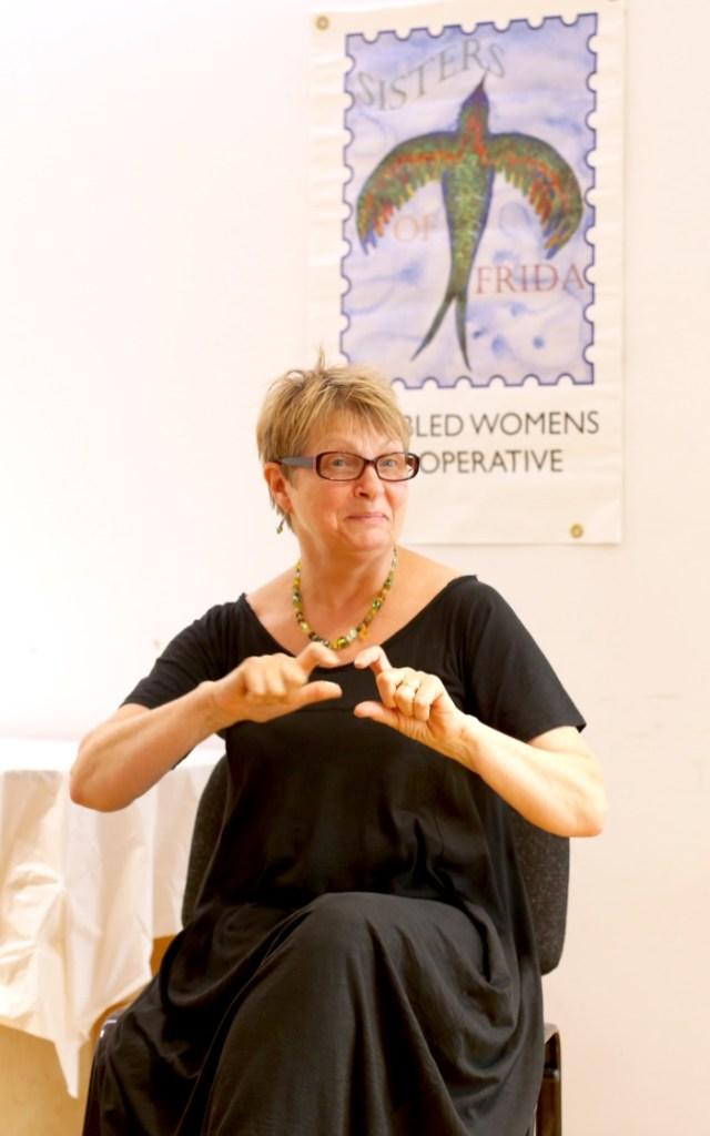 Pauline Latchem signing