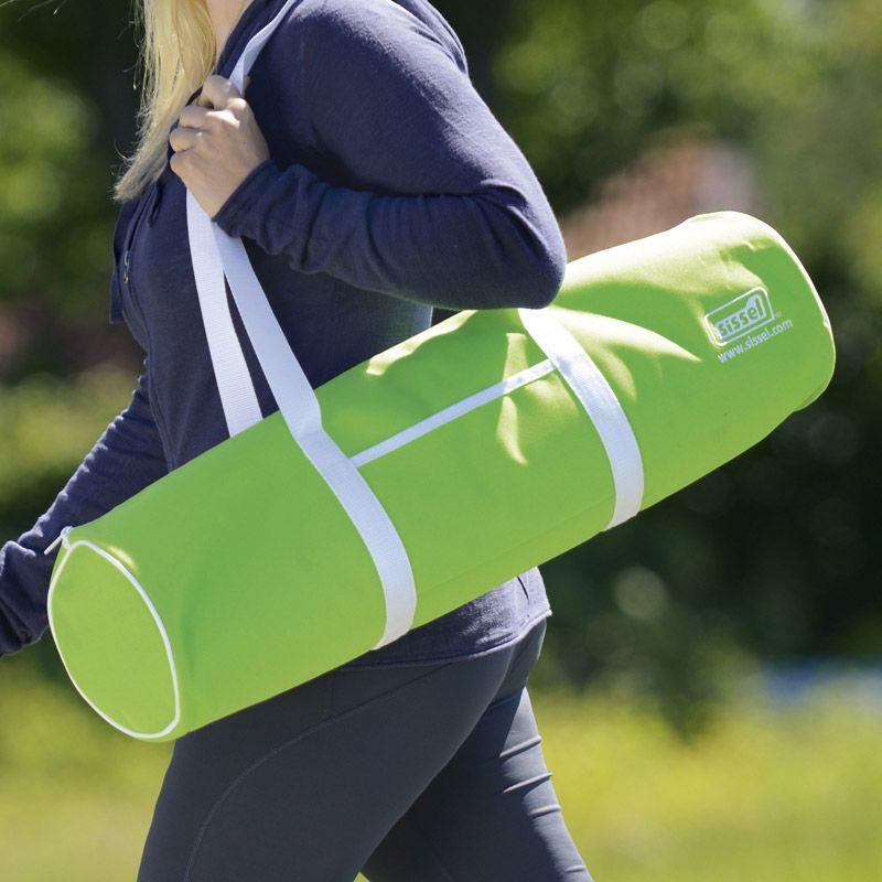 sac de transport sissel pour natte de yoga vert