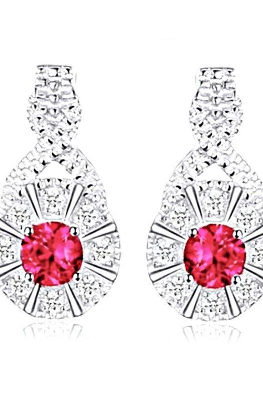 Elizabeth: Exquisite Ruby Earrings