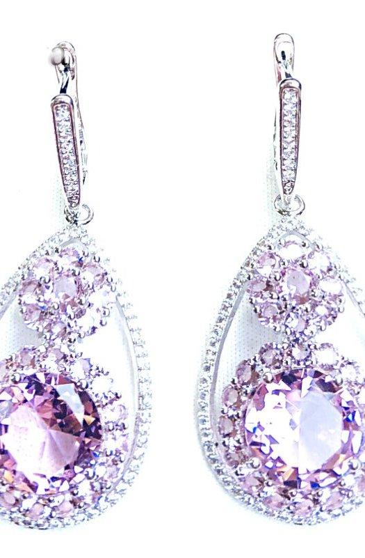 Champagne: Kunzite Earrings