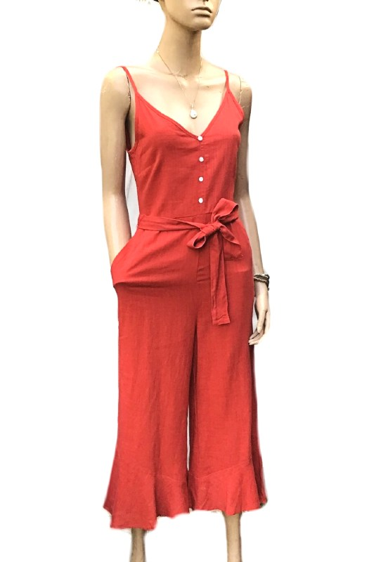 Atlantic: Sunny Girl Linen Jumpsuit