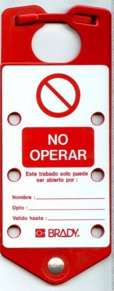 MORDAZA MULTP. ALUMINIO CON ETIQUETA «NO OPERAR»