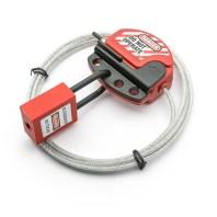CabLock bloqueo de Válvulas y Disyuntores mediante un cable de acero y un bloqueador de Xenoy - Capacidad para 4 Candados