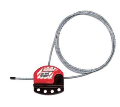 Cablock Bloqueo para válvulas y disyuntores + Cable de acero