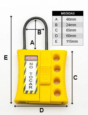 Medidas de la Mini Aldaba Dieléctrica